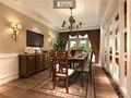 140平米别墅美式风格餐厅家具装修图片大全