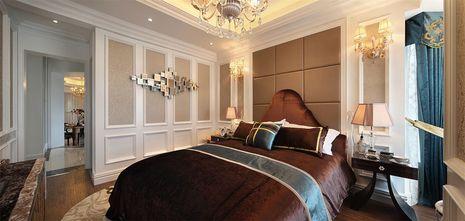 110平米三室两厅法式风格卧室背景墙欣赏图