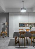 90平米现代简约风格餐厅图