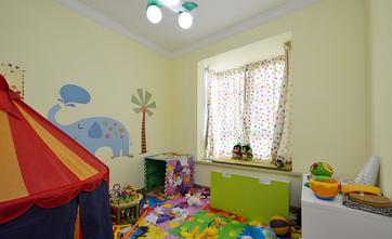 90平米三室两厅地中海风格儿童房装修案例