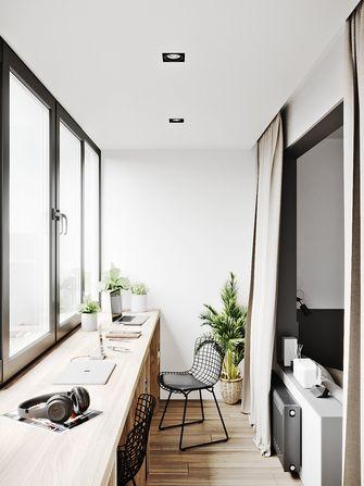 90平米三室一厅现代简约风格阳台装修效果图