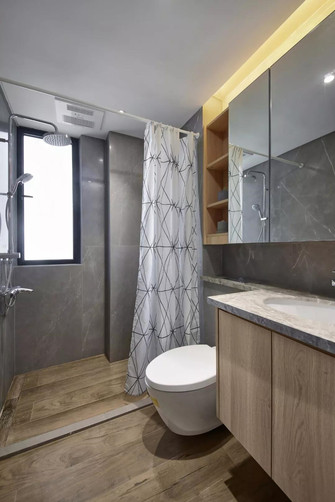 90平米日式风格卫生间装修案例