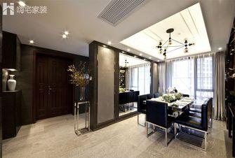 110平米三室一厅现代简约风格餐厅橱柜欣赏图