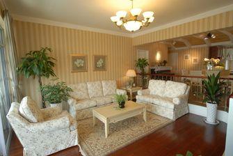 经济型130平米三室三厅田园风格客厅装修图片大全