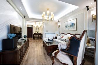 90平米公寓美式风格客厅图