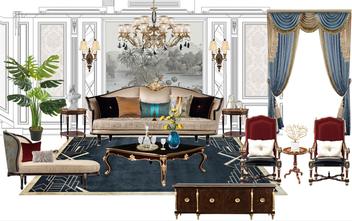 140平米别墅美式风格客厅装修效果图