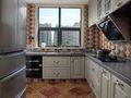 140平米四室一厅田园风格厨房图