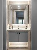 80平米三室一厅现代简约风格卫生间装修效果图