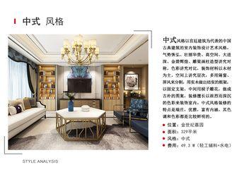 20万以上140平米三室两厅中式风格客厅装修效果图