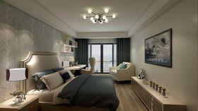 130平米三室兩廳現代簡約風格臥室裝修圖片大全