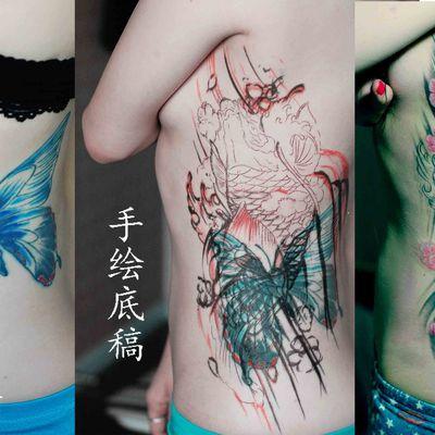 吸血鬼刺青纹身图