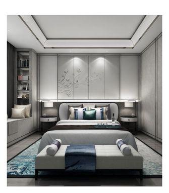 80平米三室五厅中式风格卧室效果图