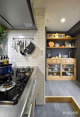 80平米日式風格廚房裝修效果圖