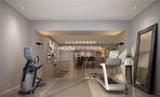 140平米复式现代简约风格健身室效果图