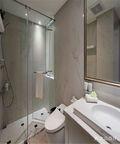 70平米美式风格卫生间浴室柜欣赏图