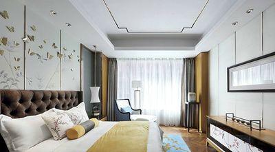 60平米三室三厅中式风格卧室装修效果图