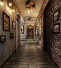 140平米别墅地中海风格走廊图片大全
