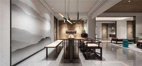 140平米三室三厅中式风格书房图片大全