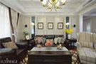 15-20万130平米三室两厅美式风格客厅照片墙欣赏图