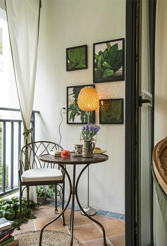 110平米三室两厅田园风格阳光房设计图