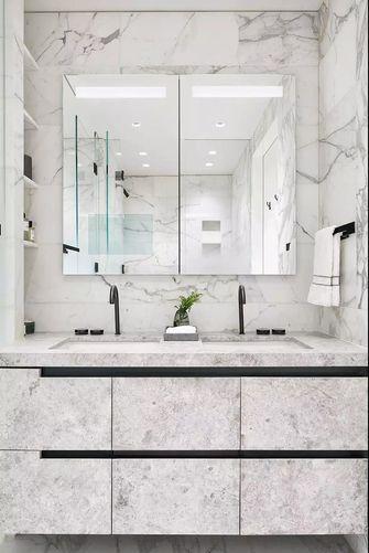 100平米三室一厅田园风格卫生间欣赏图