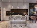 110平米三室两厅现代简约风格厨房装修案例