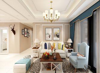 80平米欧式风格客厅图