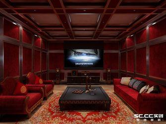 豪华型140平米四室两厅田园风格影音室图