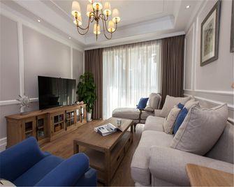 110平米三室一厅现代简约风格客厅图