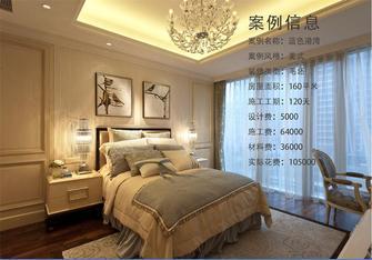 140平米四室两厅美式风格卧室背景墙图片