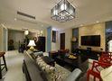 140平米三室三厅中式风格客厅装修效果图