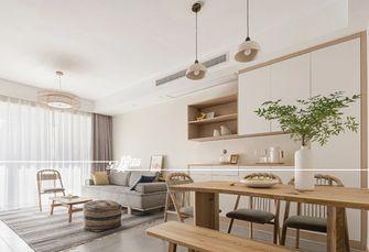 80平米三室两厅日式风格客厅效果图