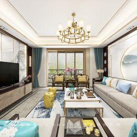 富裕型140平米四室兩廳其他風格客廳裝修圖片大全