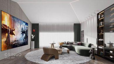 140平米三室两厅现代简约风格影音室设计图