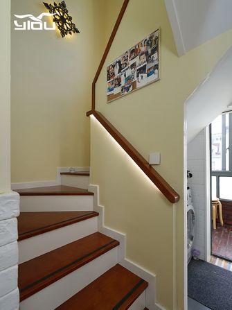 120平米复式田园风格楼梯间图片