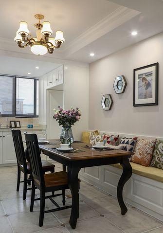 120平米三室一厅美式风格餐厅设计图