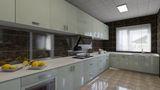 140平米四田园风格厨房图