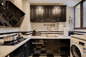 60平米一室两厅美式风格厨房图