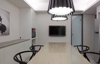 130平米三室两厅现代简约风格餐厅图片大全