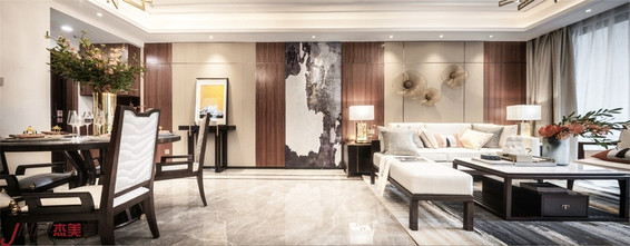 100平米三室两厅中式风格走廊图