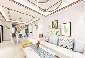 120平米四室兩廳現代簡約風格客廳欣賞圖