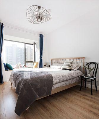 经济型80平米一居室北欧风格卧室图