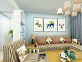 100平米三室两厅地中海风格客厅装修效果图