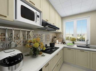 80平米三室一厅田园风格厨房设计图