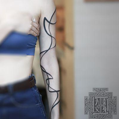 #线条纹身款式图
