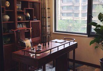 140平米三室三厅中式风格书房图片