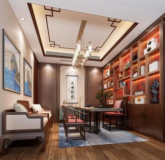140平米复式混搭风格书房装修效果图