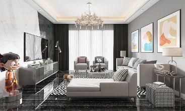 110平米三室一厅混搭风格客厅图