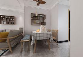 90平米三室一廳北歐風格餐廳圖片