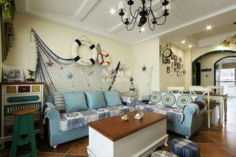 80平米三室两厅地中海风格客厅设计图